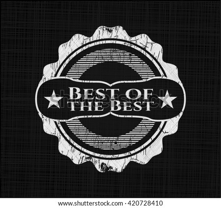 Best of the Best with chalkboard texture