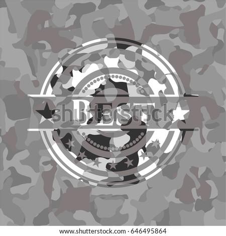 best on grey camouflaged texture