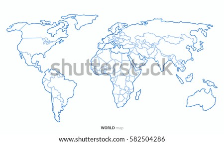White outline world map vector download free vector art stock best popular world map outline country graphic vector gumiabroncs