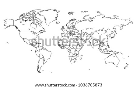 White outline world map vector download free vector art stock best popular world map outline graphic sketch style world map outline gumiabroncs Gallery