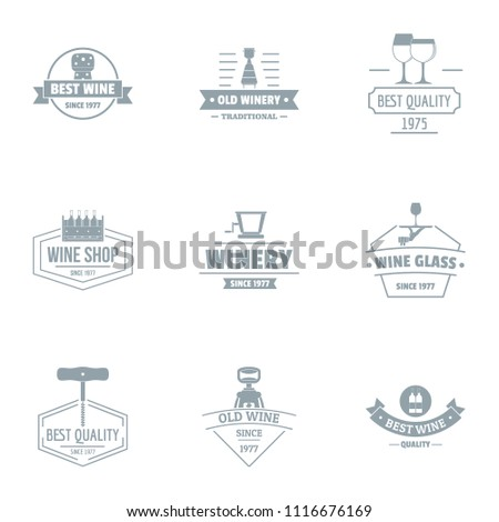 Best possible logo set. Simple set of 9 best possible vector logo for web isolated on white background