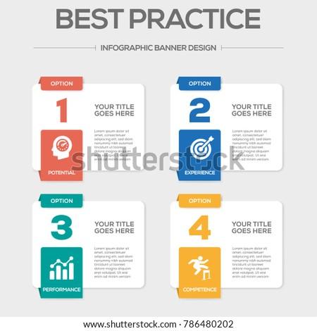 Best Practice Infographic Icons Stockfoto ©