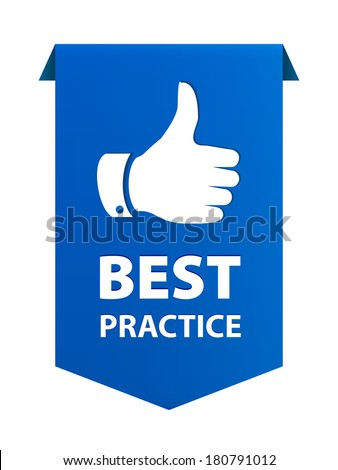 Best practice ribbon banner icon isolated on white background. Vector illustration