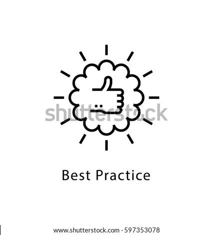 Best Practice Vector line Icon