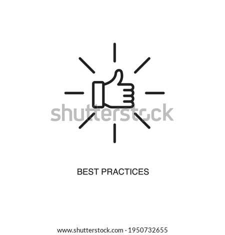 Best practices simple thin line icon vector illustration Stock photo ©