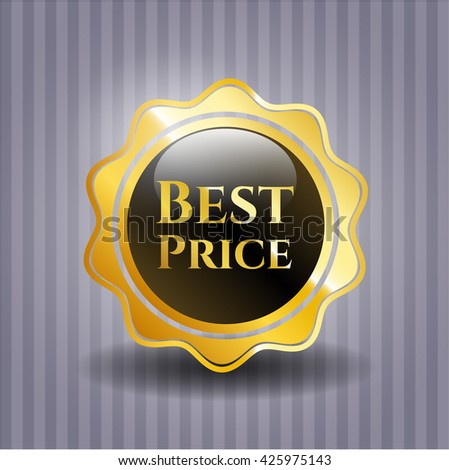Best Price gold badge or emblem