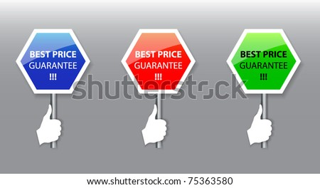 Best price signs-vector