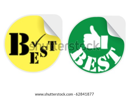 Best products stickers set
