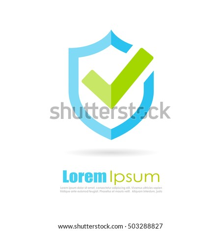 Best protection shield logo vector illustration isolated on white background. Shield icon. Shield protection abstract logo.