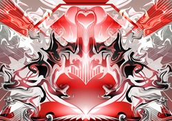 Best Quality Abstract background pattern Fantasy science style