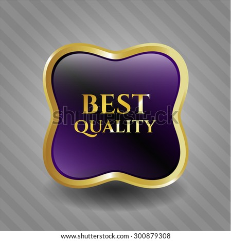 Best Quality gold shiny emblem