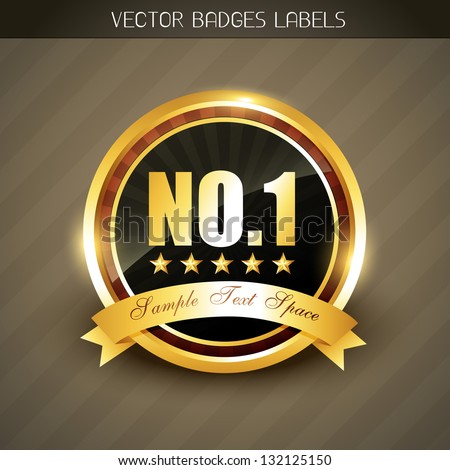 best quality no. 1 golden product promotion vector label Сток-фото ©