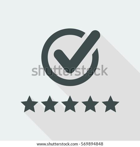 Shutterstock Best rating - Flat minimal icon