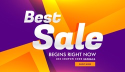 best sale discount and advertising banner voucher template design background