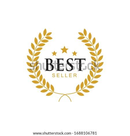 Best seller badge icon logo design template.vector Illustration