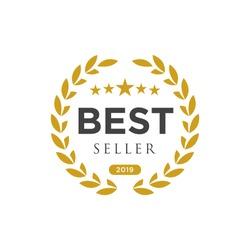 Best seller badge logo design. Best seller vector isolated