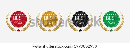 Best seller badge logo design. Best seller vector isolated.
