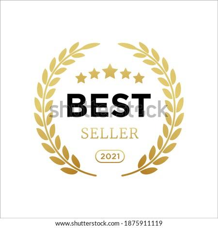 Best seller badge logo icon design laurel. Best seller vector isolated white background. EPS 10
