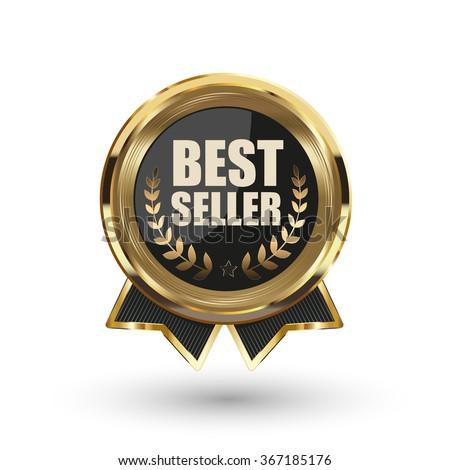 Best seller badge. Vector illustration.