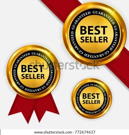 Best Seller collection Set Label. Vector Illustration EPS10