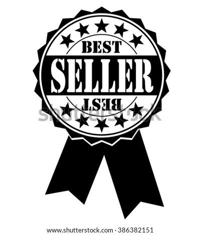 best seller icon on white, vector illustration