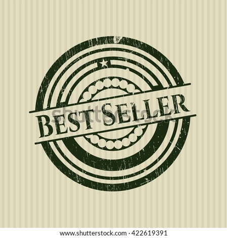 Best Seller rubber stamp with grunge texture