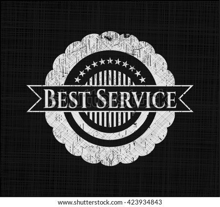 Best Service chalk emblem