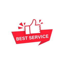 Best service label. Vector on isolated white background. EPS 10