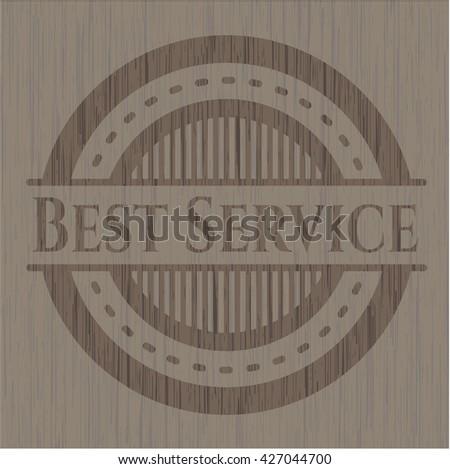 Best Service vintage wooden emblem