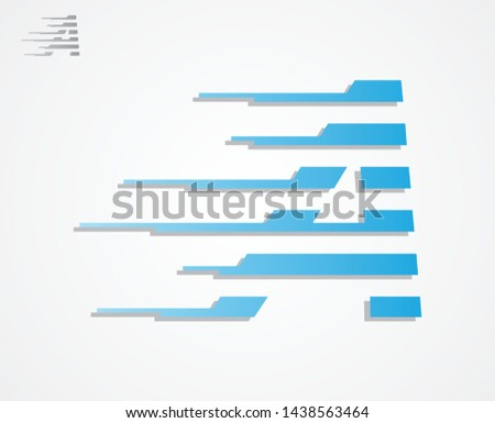 Best simple vector letter A logo style fast on the white background. Letter A logo icon with color blue. Vector illustration EPS.8 EPS.10