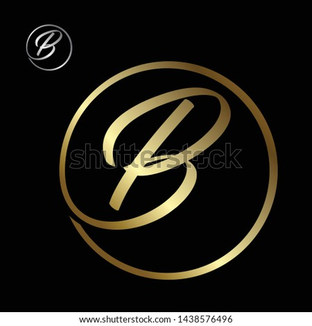 Best simple vector letter B with color gold on the black background. Letter b symbol for your best business icon. Vector illustration EPS.8 EPS.10