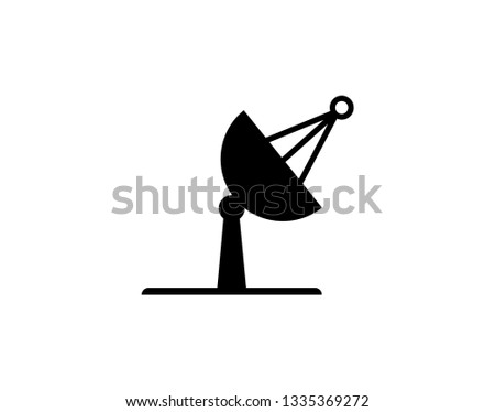 best sputnik antenna icon, isolated, white background - Illustration