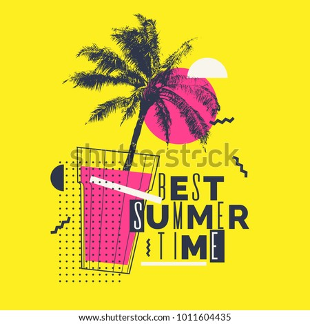best summer time modern poster