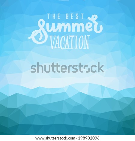 best summer vacation poster on