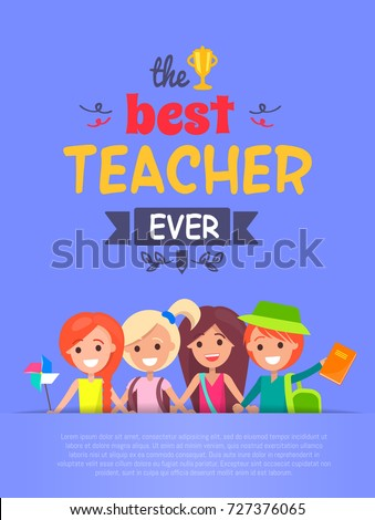 best teacher ever  poster