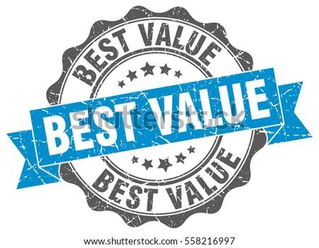 best value. stamp. sticker. seal. round grunge vintage ribbon best value sign