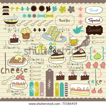 best vector elements for scrapbook or card design