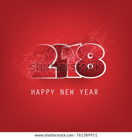 best wishes abstract modern style happy new year greeting card or background creative design template 2018 ez canvas