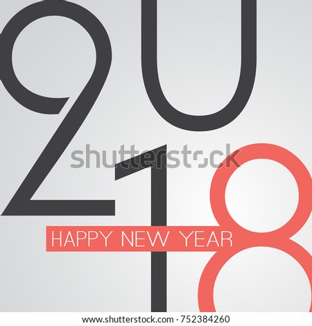 Best Wishes - Abstract Retro Style Happy New Year Greeting Card or Background, Creative Design Template - 2018