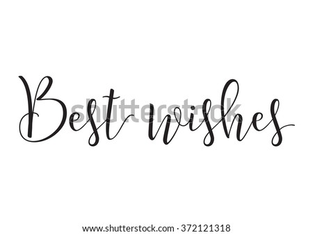 Best wishes greeting card download free vector art stock graphics best wishes inscription greeting card with calligraphy hand drawn design elements black and m4hsunfo