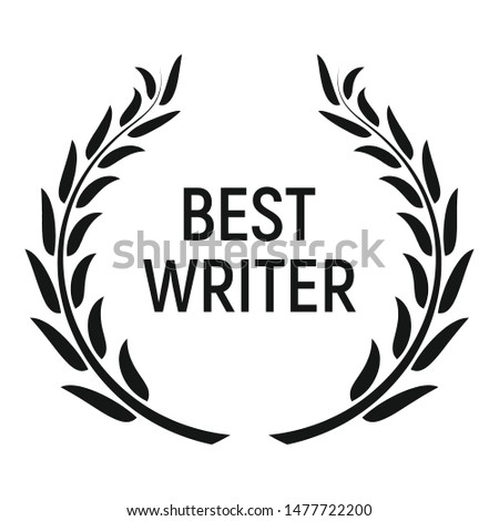 Best writer award icon. Simple illustration of best writer award vector icon for web design isolated on white background