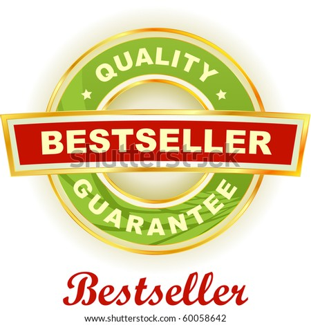 Bestseller emblem. Vector illustration. - stock vector