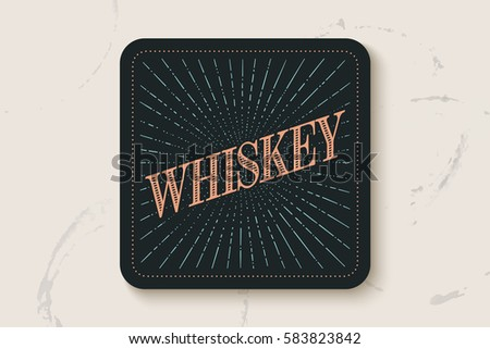 beverage coaster for glass with ...