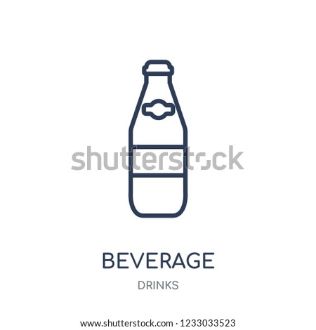 Beverage icon. Beverage linear symbol design from drinks collection. Simple outline element vector illustration on white background