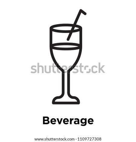 Beverage icon vector isolated on white background for your web and mobile app design, Beverage logo concept