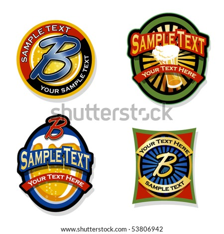 beverage labels set