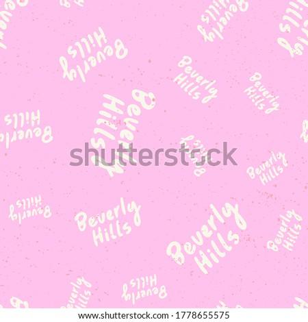 beverly hills retro pattern