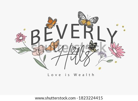 beverly hills slogan with hand