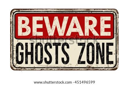 beware ghosts zone vintage