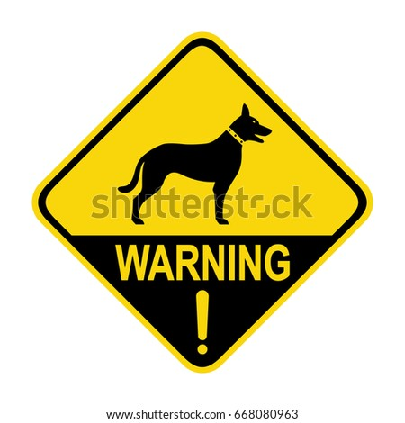 Beware of dog sign, Symbol, illustration